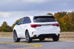 2019 Acura MDX A-Spec in White Diamond Pearl - Driving Rear Left View