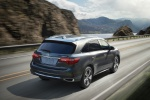 2019 Acura MDX in Modern Steel Metallic - Driving Rear Right View
