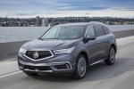 2019 Acura MDX Sport Hybrid in Modern Steel Metallic - Driving Front Left View