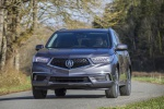 2019 Acura MDX Sport Hybrid in Modern Steel Metallic - Driving Frontal View