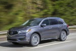 2019 Acura MDX Sport Hybrid in Modern Steel Metallic - Driving Front Left Three-quarter View