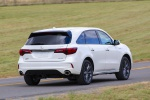 2019 Acura MDX A-Spec in White Diamond Pearl - Driving Rear Right View