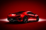 2017 Acura NSX Sport Hybrid SH-AWD in Valencia Red Pearl - Static Rear Right Three-quarter View