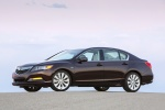 2014 Acura RLX Sport Hybrid in Pomegranate Pearl - Static Front Left Three-quarter View
