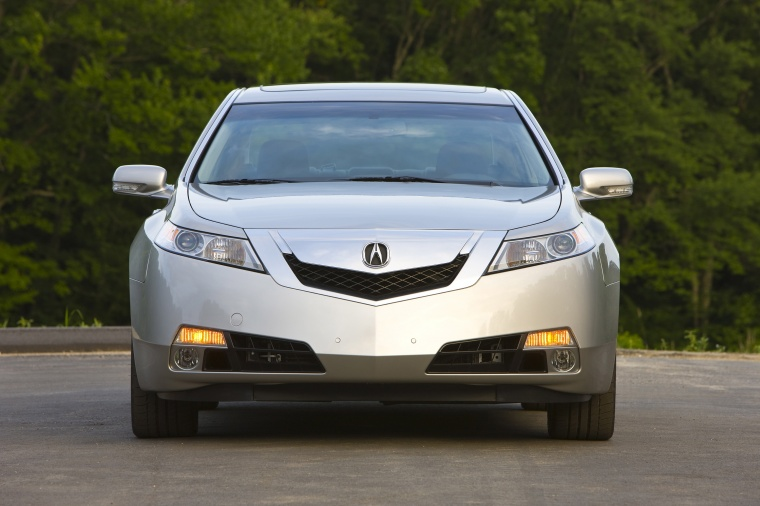 2010 Acura TL SH-AWD in Palladium Metallic from a frontal view