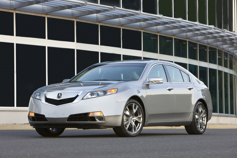 2010 Acura TL SH-AWD in Palladium Metallic from a front left view