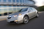 2010 Acura TL SH-AWD in Palladium Metallic - Driving Front Left View
