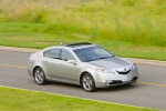 2010 Acura TL SH-AWD in Palladium Metallic - Driving Front Right Three-quarter View