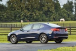 2015 Acura TLX in Fathom Blue Pearl - Static Rear Left Three-quarter View