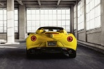 2016 Alfa Romeo 4C Spider in Giallo Prototipo - Static Rear View