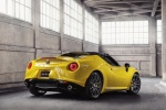 2016 Alfa Romeo 4C Spider in Giallo Prototipo - Static Rear Right Three-quarter View