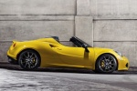 2016 Alfa Romeo 4C Spider in Giallo Prototipo - Static Side View