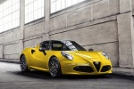 2016 Alfa Romeo 4C Spider in Giallo Prototipo - Static Front Right Three-quarter View
