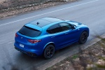 2018 Alfa Romeo Stelvio Quadrifoglio AWD in Montecarlo Blue Metallic - Static Rear Right Three-quarter Top View