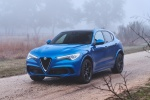 2018 Alfa Romeo Stelvio Quadrifoglio AWD in Montecarlo Blue Metallic - Static Front Left Three-quarter View
