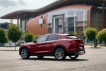 2018 Alfa Romeo Stelvio Ti Sport AWD in Rosso Competizione Tri-Coat - Static Rear Left Three-quarter View