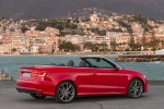 2015 Audi A3 Convertible in Brilliant Red - Static Rear Right Three-quarter View