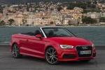 2015 Audi A3 Convertible in Brilliant Red - Static Front Right Three-quarter View