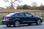 2016 Audi A3 2.0T quattro Sedan in Scuba Blue Metallic - Driving Rear Right Three-quarter View