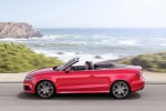 2017 Audi A3 2.0T quattro S-Line Convertible in Tango Red Metallic - Static Left Side View