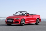 2018 Audi A3 2.0T quattro S-Line Convertible in Tango Red Metallic - Static Front Left Three-quarter View