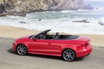 2018 Audi A3 2.0T quattro S-Line Convertible in Tango Red Metallic - Static Rear Left Three-quarter View