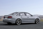 2018 Audi A6 3.0T S-Line Sedan in Nardo Gray - Static Rear Right Three-quarter View