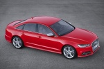2018 Audi S6 Premium Plus quattro Sedan in Misano Red Pearl Effect - Static Front Right Three-quarter Top View