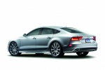 2015 Audi A7 Sportback 3.0T Premium in Ice Silver Metallic - Static Rear Left Three-quarter View