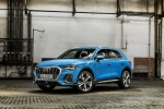 2019 Audi Q3 45 quattro in Turbo Blue - Static Front Left Three-quarter View