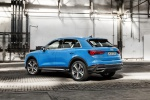 2019 Audi Q3 45 quattro in Turbo Blue - Static Rear Left Three-quarter View