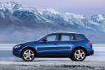 2011 Audi Q5 3.2 Quattro in Deep Sea Blue Pearl Effect - Static Side View