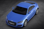 2017 Audi TT Coupe in Scuba Blue Metallic - Static Front Left Three-quarter Top View