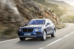 2018 Bentley Bentayga in Blue Sequin Metallic - Driving Front Left View