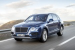 2018 Bentley Bentayga in Blue Sequin Metallic - Driving Front Left Three-quarter View