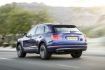 2018 Bentley Bentayga in Blue Sequin Metallic - Driving Rear Left Three-quarter View