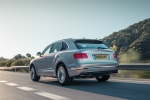 2018 Bentley Bentayga in Silver Storm Metallic - Driving Rear Left View