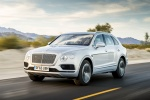 2018 Bentley Bentayga in Silver Storm Metallic - Driving Front Left Three-quarter View