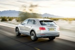 2018 Bentley Bentayga in Silver Storm Metallic - Driving Rear Left Three-quarter View