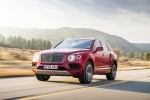 2018 Bentley Bentayga in Rubino Red Metallic - Driving Front Left Three-quarter View
