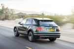 2018 Bentley Bentayga in British Racing Green 4 Metallic - Driving Rear Left Three-quarter View