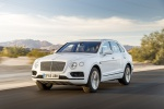 2019 Bentley Bentayga in Glacier White - Driving Front Left Three-quarter View
