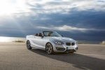 2015 BMW 228i Convertible in Glacier Silver Metallic - Static Front Right Three-quarter View