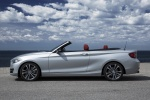 2015 BMW 228i Convertible in Glacier Silver Metallic - Static Side View