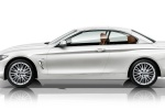2014 BMW 428i Convertible with top closed in Mineral White Metallic - Static Side View