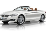2015 BMW 428i Convertible with open top in Mineral White Metallic - Static Front Left Three-quarter View