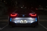 2014 BMW i8 Coupe in Ionic Silver Metallic - Static Rear View