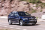 2019 BMW X1 xDrive28i in Mediterranean Blue - Driving Front Right Three-quarter View