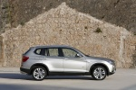 2012 BMW X3 xDrive35i in Mineral Silver Metallic - Static Right Side View
