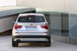 2013 BMW X3 xDrive35i in Mineral Silver Metallic - Static Rear View